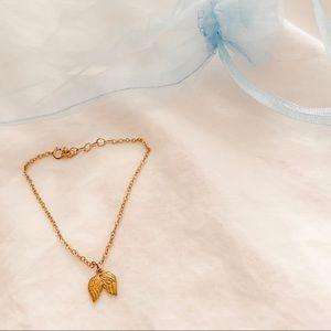 Dogeared 14K Gold Guardian Angel Bracelet